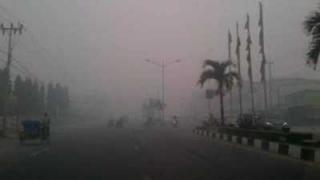 Kabut Asap Selimuti Wilayah Dumai