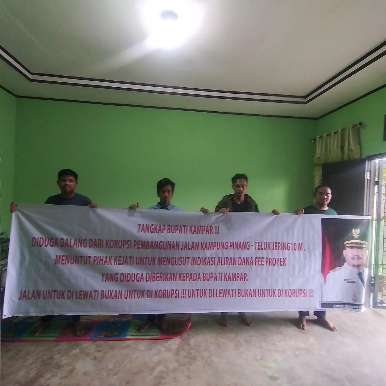Front Mahasiswa Riau Anti Korupsi desak Kejati Periksa Bupati Kampar