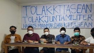 GEMA - JAKARTA Tolak Kehadiran Junta Myanmar di KTT ASEAN Jakarta